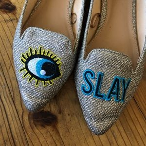 Whimsical pointy toe flats